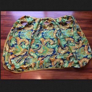 Vintage Dresses - Twiggy's Mom's Mod Paisley 60's 70's Wrap Robe
